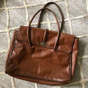 Miu Miu Brown Cognac Leather Tote Bag